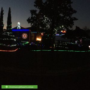 Christmas Light display at 13 Newhaven Court, Lilydale
