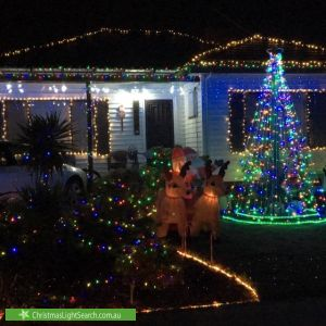 Christmas Light display at 30 Tarana Avenue, Glenroy