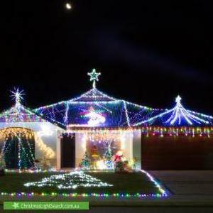 Christmas Light display at 35 Glastonbury Street, Leda