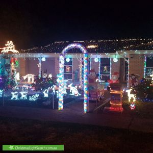 Christmas Light display at 6 Earl Avenue, Salisbury East