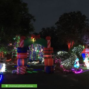 Christmas Light display at 10 Keelah Street, Woori Yallock