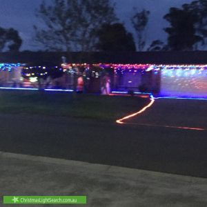 Christmas Light display at 1 Millstream Road, Werrington Downs