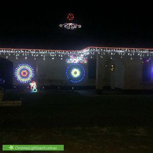 Christmas Light display at 21 Barnstaple Road, Salisbury