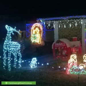 Christmas Light display at Walker Court, Enfield