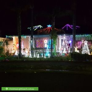Christmas Light display at 39 High Avenue, Clearview