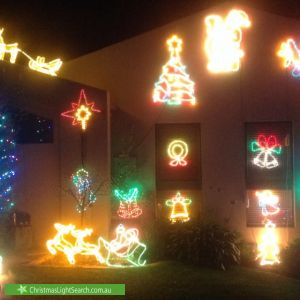 Christmas Light display at 26 Barber Crescent, Flynn