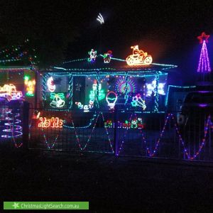 Christmas Light display at James Meehan Street, Windsor