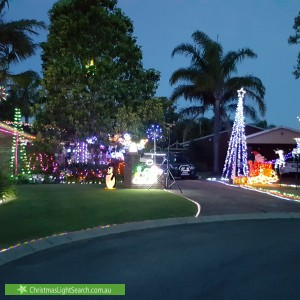 Christmas Light display at 4 Panax Court, South Lake