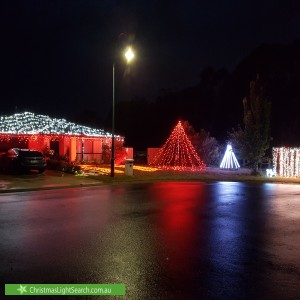 Christmas Light display at 15 Herdson Place, MacGregor