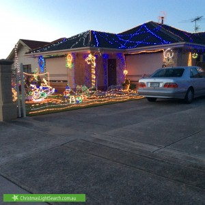 Christmas Light display at 7 Bridgman Road, Findon