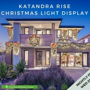 Christmas Light display at 9 Marley Boulevard, Doreen