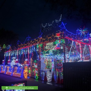 Christmas Light display at 124 Karne Street North, Roselands