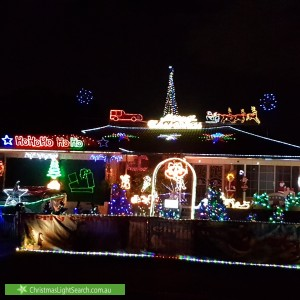 Christmas Light display at 7 Grebe Street, Erskine Park