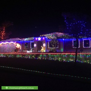Christmas Light display at 7 The Dell, Canning Vale