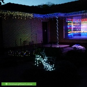 Christmas Light display at 27 Tiparra Avenue, Park Holme