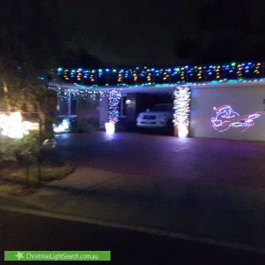 Christmas Light display at 17 Seabrook Way, Seaford