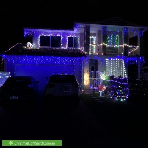 Christmas Light display at 4 Sawrey Street, Rothwell