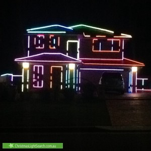 Christmas Light display at 28 Lockwood Street, Asquith