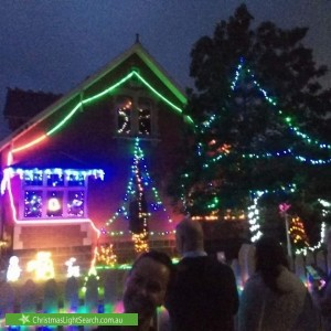 Christmas Light display at 88 Railway Crescent, Williamstown