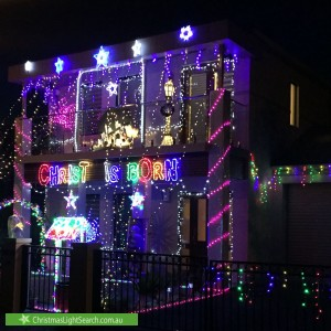 Christmas Light display at 26 Treweck Avenue, Hillcrest