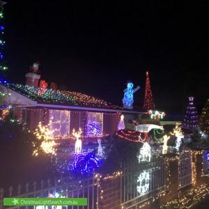 Christmas Light display at 36 Aplin Road, Bonnyrigg Heights