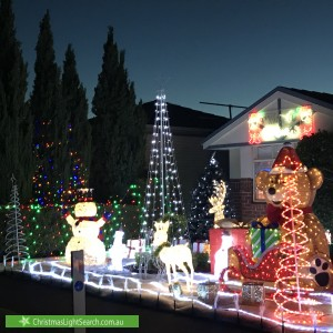 Christmas Light display at 121 Montbrae Circuit, Narre Warren