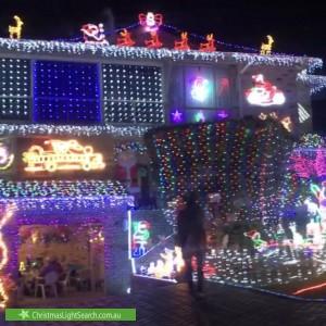 Christmas Light display at 8 Samson Court, Duncraig