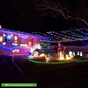 Christmas Light display at 12 Pockley Close, MacGregor