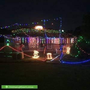 Christmas Light display at 8 Idriess Crescent, Blackett
