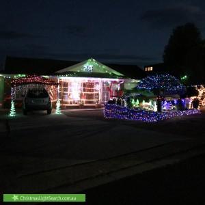 Christmas Light display at 17 Throsby Close, Karabar