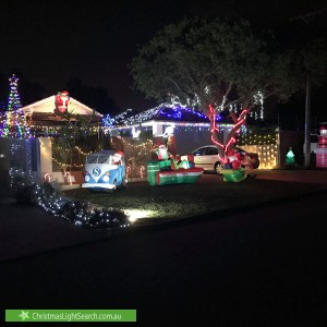 Christmas Light display at 18 Young Street, Melville