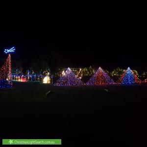 Christmas Light display at 10 Hunter Street, Carisbrook