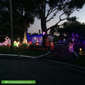 Christmas Light display at 89 Cootamundra Avenue, Capel Sound
