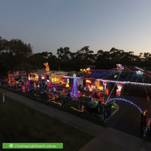 Christmas Light display at 157 Woolleys Road, Bittern