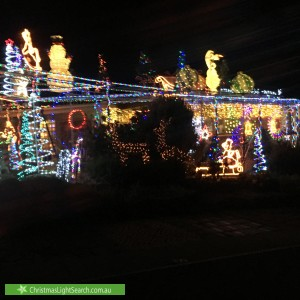 Christmas Light display at 2 Sassafras Place, Isabella Plains