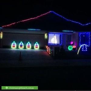 Christmas Light display at 3 Foxton Way, Butler