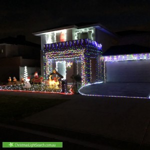 Christmas Light display at 9 River Rose Street, Greenvale