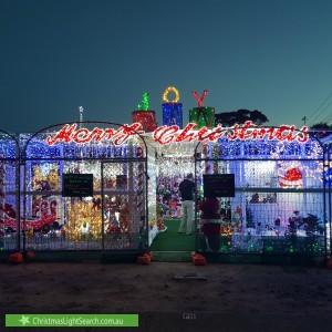 Christmas Light display at 6 Lee-Steere Crescent, Kambah