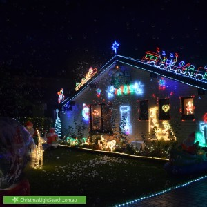 Christmas Light display at 87 Camorta Close, Kings Park