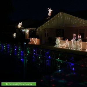 Christmas Light display at 15 Orchard Avenue, Everard Park
