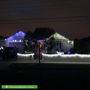 Christmas Light display at 18 Noyes Street, Highett