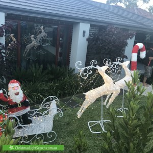 Christmas Light display at 11 Hamilton Street, Niddrie