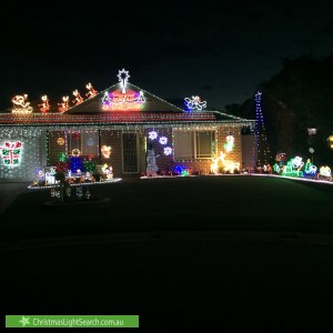 Christmas Light display at 19 Gershwin Crescent, Claremont Meadows