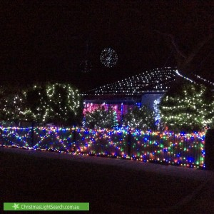 Christmas Light display at 18 Vialls Avenue, Parkdale