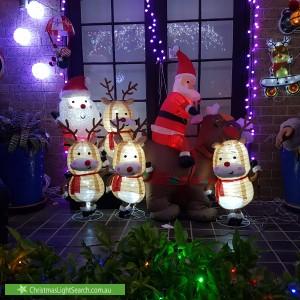 Christmas Light display at 35 Borgnis Street, Davidson