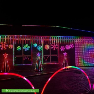 Christmas Light display at 12 Tapley Court, Sheidow Park