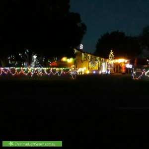 Christmas Light display at 26 Mary Street, Dookie