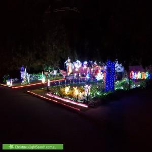 Christmas Light display at 8 Mark Place, Cherrybrook