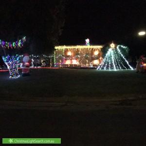 Christmas Light display at 12 Rosewood Road, Highbury