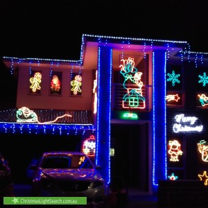 Christmas Light display at  Velour Crescent, Moorebank